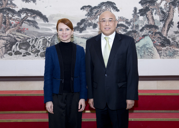 Foreign Minister Keit Pentus-Rosimannus with ILD Vice Minister Zhou Li, January 2015. Source: ILD.