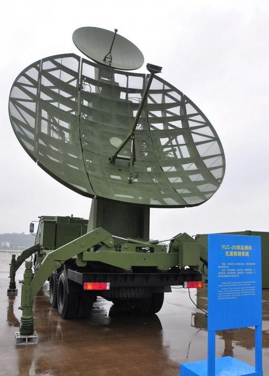 Čínský pasivní radar YLC-20, založený na českém systému Věra. Zdroj: 新浪军事, 20.03.2012.